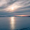 sunset over alaska fjords on a cruise trip near ketchikan