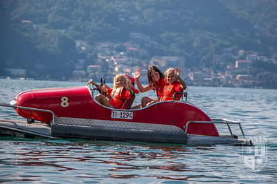 Pedal Boating on Lake Lugano