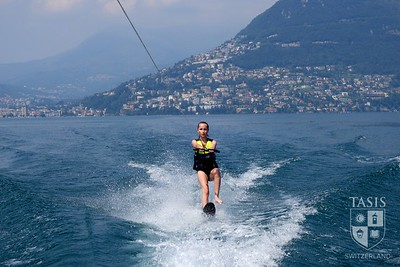 Waterskiing on Lake Lugano