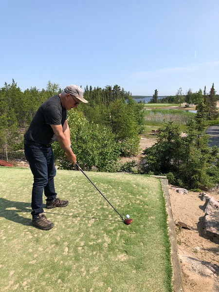 Golfing in Yellowknife, all sand course!!