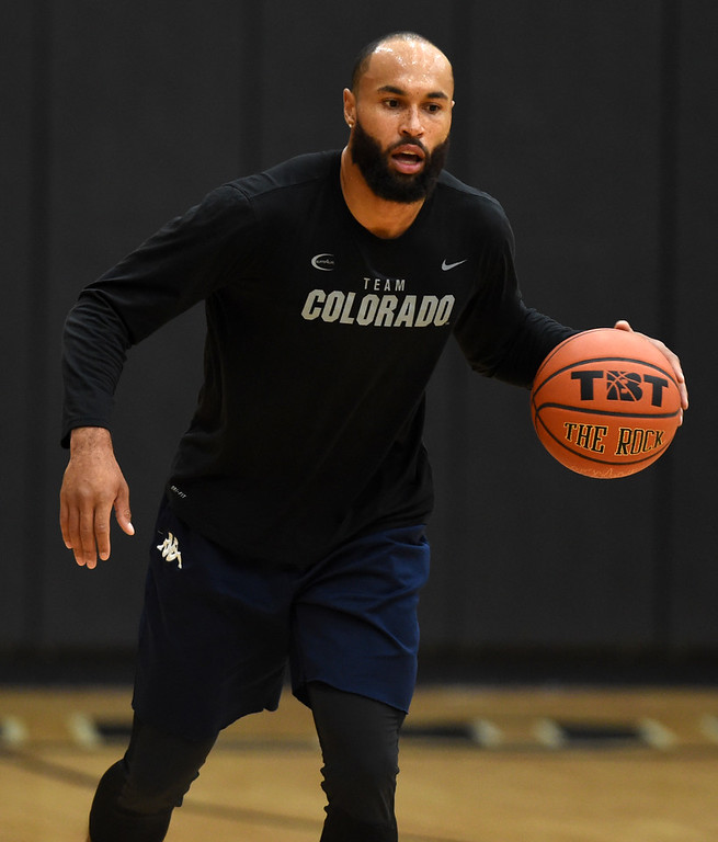 . Marcus Relphorde is on the TBT roster. The 2018 TBT Colorado team was practicing at the CU Events Center on Friday. For more photos, go to buffzone.com. Cliff Grassmick  Staff Photographer  June 29, 2018
