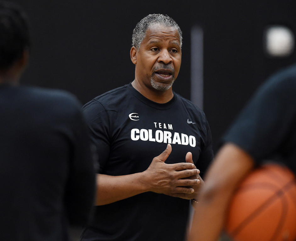 . Former Buff and NBA player, Jay Humphries, is helping with the coaching. The 2018 TBT Colorado team was practicing at the CU Events Center on Friday. For more photos, go to buffzone.com. Cliff Grassmick  Staff Photographer  June 29, 2018