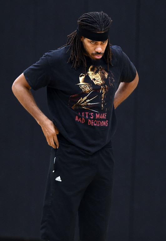 . Former CU and NBA player, Chris Copeland, is on the TBT roster. The 2018 TBT Colorado team was practicing at the CU Events Center on Friday. For more photos, go to buffzone.com. Cliff Grassmick  Staff Photographer  June 29, 2018