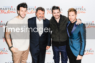 Sebasti‡n Yatra, Jesus Lopez,  Juanes and David Bisbal
