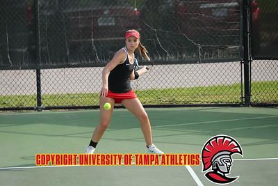 2/13/2018; St. Petersburg, Fl.; University of Tampa women's tennis vs. Eckerd College at Eckerd.