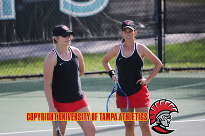 2/13/2018; St. Petersburg, Fl.; University of Tampa women's tennis vs. Eckerd College at Eckerd.