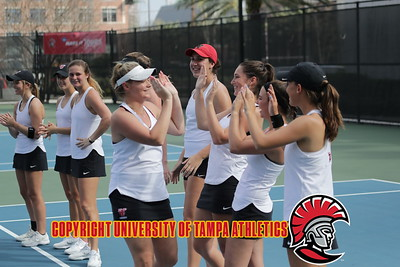 2/17/2018; Tampa, Fla.;  University of Tampa women's tennis vs. Florida Southern College.