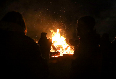 The town bonfire in Bradley Beach, NJ on 11/23/18. [DANIELLA HEMINGHAUS | THE COAST STAR]