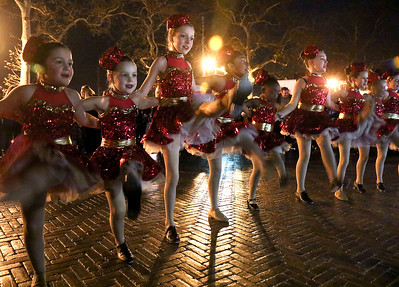 Dancers from the Robin McGill School of Dance performing for the crowd. The town tree lighting in Bradley Beach, NJ on 11/25/18. [DANIELLA HEMINGHAUS | THE COAST STAR]