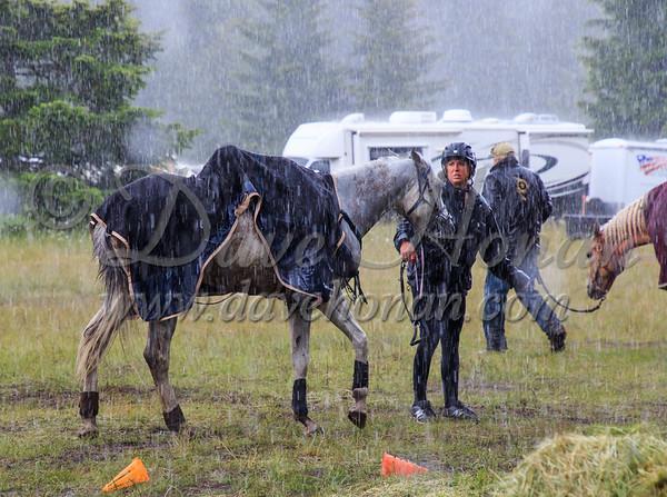 Scenes around ride camp on Saturday