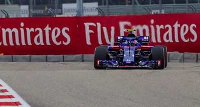 Pierre Gasly in the Toro Rosso car.
