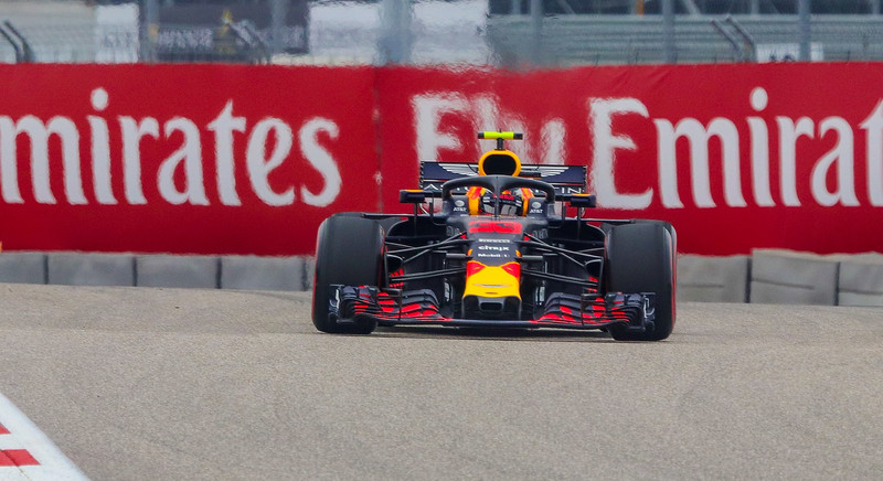 Max Verstappen coming right at you. Distance is approximately 300 yards.