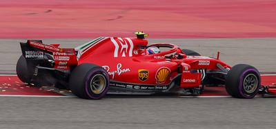 Kimi Raikkonen of Finland, who won the race this year for Ferrari (2018).