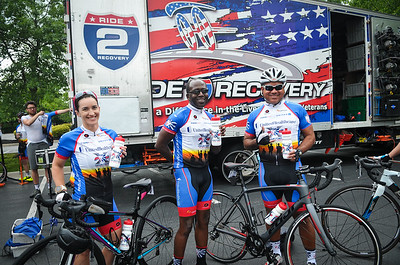 Project Hero participants ride 53 miles around Richmond, Va., during the 2018 UnitedHealthcare Memorial Challenge. Project Hero, a 501(c)3 non-profit organization, is dedicated to helping veterans and first responders affected by PTSD, TBI, illness, and injury achieve rehabilitation, recovery and resilience in their daily lives. Photo by Tiffini Skuce