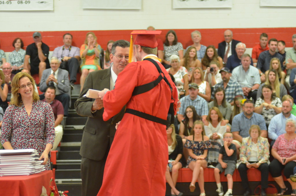 . Andrew Aurigema - Oneida Daily Dispatch The Vernon-Verona-Sherrill Class of 2018 Commencement ceremonies on Saturday, June 23, 2018.