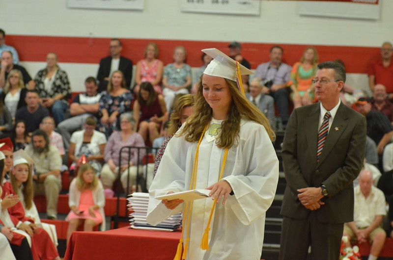 Andrew Aurigema - Oneida Daily Dispatch The Vernon-Verona-Sherrill Class of 2018 Commencement ceremonies on Saturday, June 23, 2018.