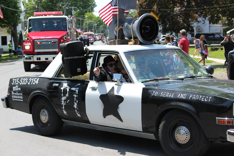 Charles Pritchard - Oneida Daily Dispatch The Blues Brothers of Central New York sings on the road during Verona's Memorial Day parade on Monday, May 28, 2018.