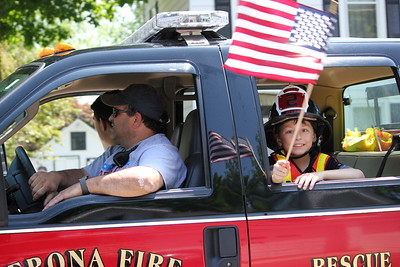 Charles Pritchard - Oneida Daily Dispatch The Verona Fie Department in the Verona Memorial Day Parade on Monday, May 28, 2018.