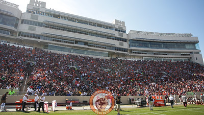 Lane Stadium's west stands filled up to capacity for the game. (Mark Umansky/TheKeyPlay.com)
