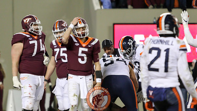 QB Ryan Willis reacts after throwing what appeared to be a game ending intereption. (Mark Umansky/TheKeyPlay.com)