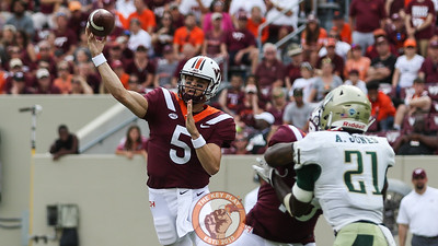 QB Ryan Willis enters the game as Virginia Tech pulls away from William and Mary in the second half. (Mark Umansky/TheKeyPlay.com