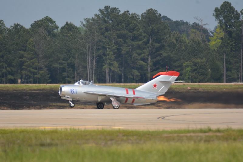 Mig 17 with it's afterburner on!