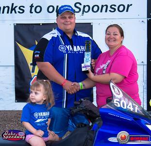 Alex Larson, Huron, SD - Winner - Oahe Speedway Bike/Sled Shootout