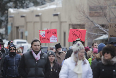 The Women's March in Santa Fe, NM, on Sunday, January 21, 2018. Luis Sánchez Saturno/The New Mexican