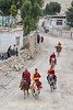 Monks Racing Through The Streets