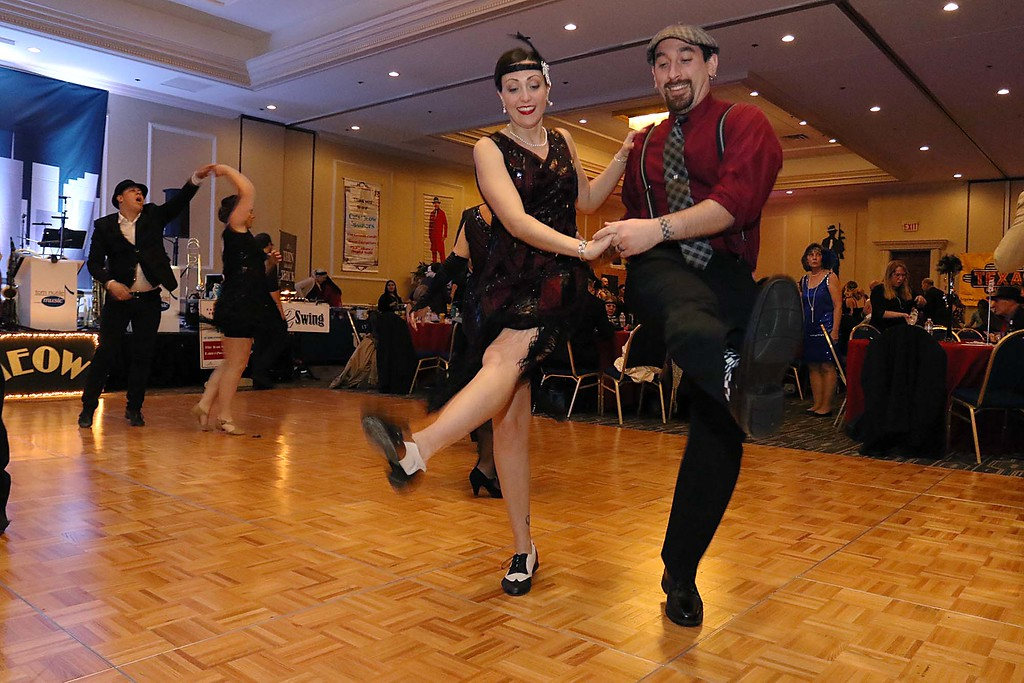 . The Healthalloance-Clinton Hospital Cat\'s Meow Speakeasy Tasting Gala was held on March 1, 2018 at the DoubleTree by Hilton in Leominster. Showing off their dance moves at the Speakeasy was travis Condon and his wife Ashley Robbins of Leominster. SENTINEL & ENTERPRISE/JOHN LOVE