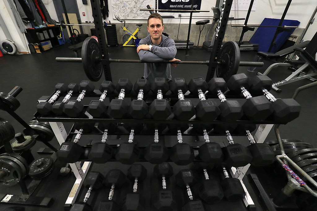 . Brendan Aylward, 25, owner of Unified Health & Performance in Lancaster. SENTINEL & ENTERPRISE/JOHN LOVE