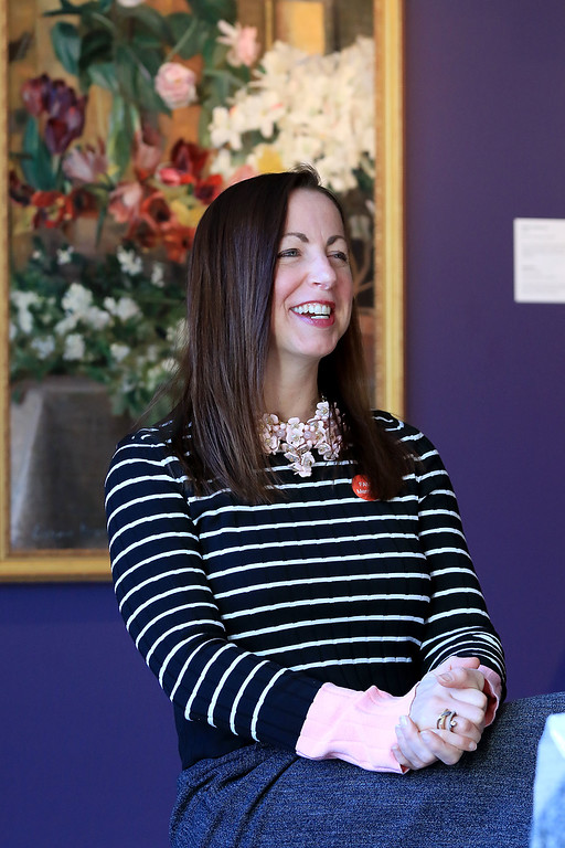 . Lynne Benoit-Grzyb a longtime trustee at the Fitchburg Art Museum talks about her time with the museum on Friday afternoon, November 23, 2018. SENTINEL & ENTERPRISE/JOHN LOVE
