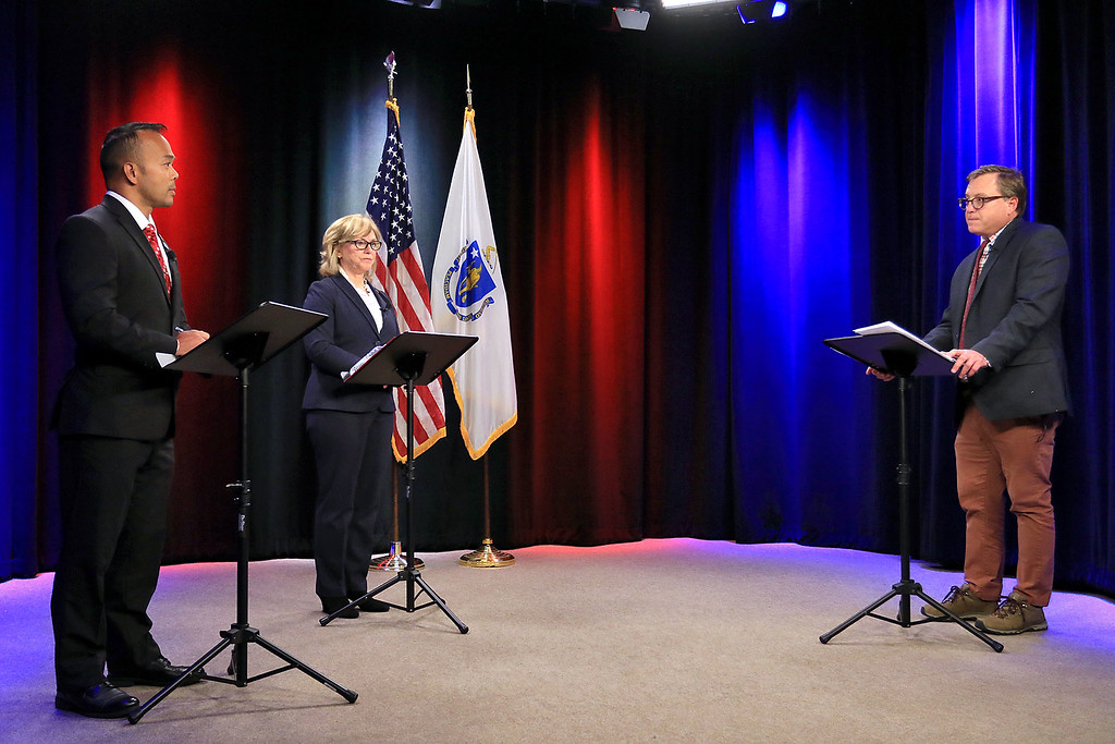 . Dean Tran and Sue Chalifoux Zephir faced off in a debate on Wednesday night at Fitchburg Access Television. The moderator for the debate was Sentinel & Enterprise City Editor Cliff Clark, on right. Senator Dean Tran answers a question during the debate. SENTINEL & ENTERPRISE/JOHN LOVE