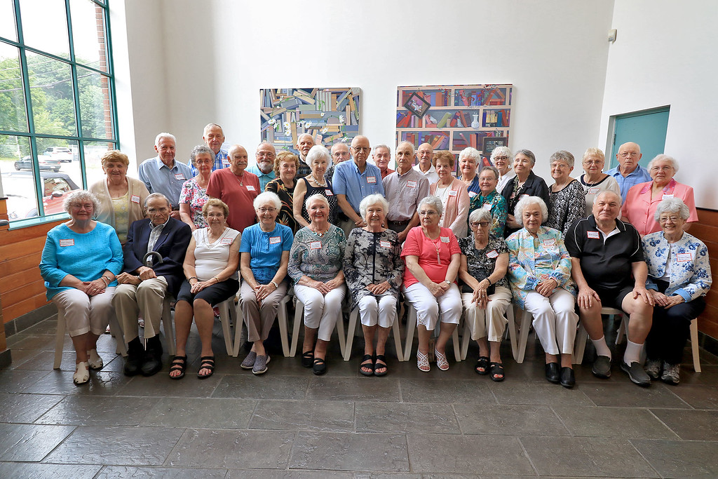 . The Fitchburg High School class of 1953 held 65 reunion at the Fitchburg Art Museum on Saturday afternoon. During the reunion they took a class picture of all that showed up. SENTINEL & ENTERPRISE/JOHN LOVE