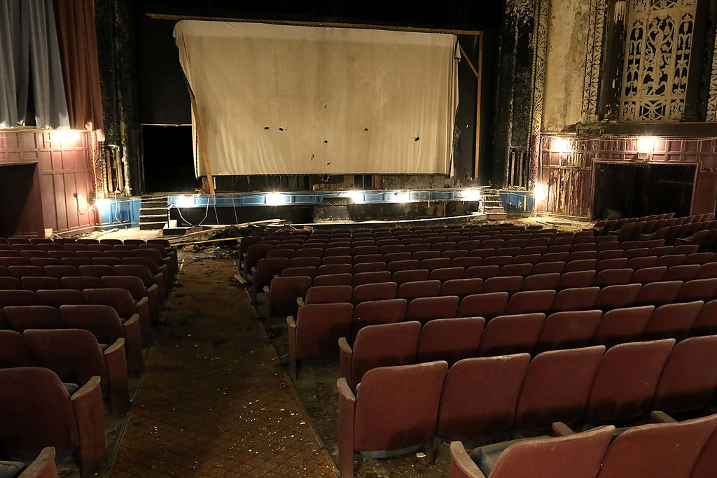 . The Fitchburg theater block during a tour with Lt. Gov Karyn Polito, March 22, 2018. SENTINEL & ENTERPRISE/JOHN LOVE