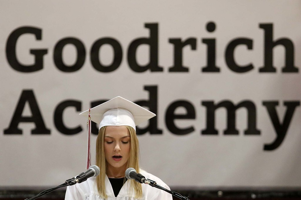 . Scenes from the Goodrich Academy Class of 2018 graduation on Thursday 31, 2018 at the Fitchburg High School field house. Student Abigail Prentiss was one of the student speakers at the ceremony. SENTINEL & ENTERPRISE/JOHN LOVE