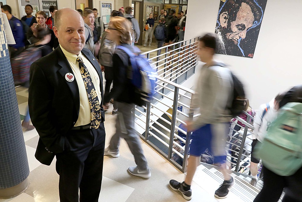. Leominster High School Principal Christopher Lord on April 5, 2018. SENTINEL & ENTERPRISE/JOHN LOVE