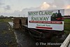 West Clare Railway sign. The railway is open May to September on Sundays and Bank Holidays. Sun 02.12.18