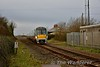 22008 approaches Killonan Jct. with the continuation of the 1345 Galway - Limerick Jct. from Limerick. This part of the service started at Limerick at 1550 as the section between Limerick and Ennis is currently closed due to flooding on the line. Fri 02.02.18