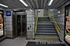 New subway. Stairs and lift leading to the existing subway. Tues 02.01.18