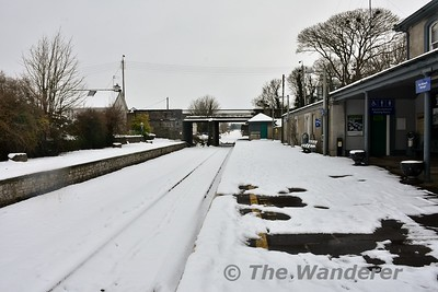 Nenagh Station on Saturday 3rd March 2018. Due to a nationwide Red Alert Snowfall warning, rail services were suspended network wide from 1400 on Thursday 1st March to Saturday 3rd March. Services on the M3 Parkway, Greystones - Rosslare, Waterford - Limerck Jct. and Limerick - Ballybrophy via Nenagh will resume on Monday 5th March. Sat 03.03.18