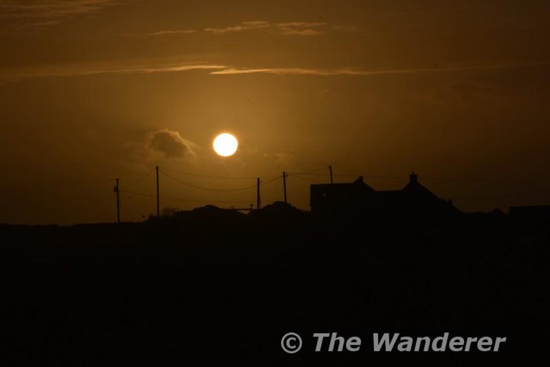 Sunset over Doonagore. Sat 03.11.18