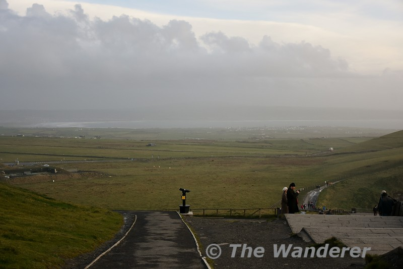 Looking inland at the Cliffs of Moher near Liscannor, Co. Clare. Sat 03.11.18