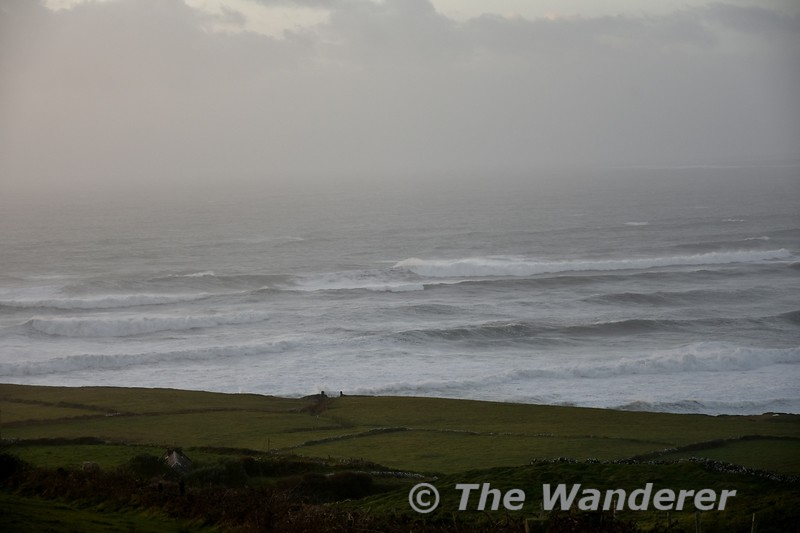 The Atlantic Ocean sweeps into the Irish Coast near Doolin. Sat 03.11.18