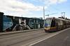 3017 passes a graffiti wall on Benburb Street. Tues 04.09.18