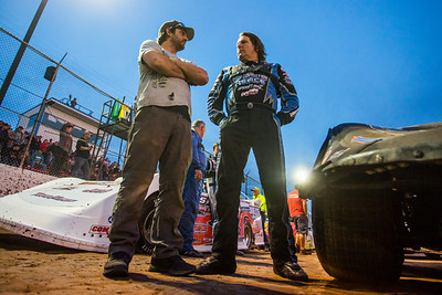 Scott Bloomquist (R) and Crew Chief Cody Mallory (L)