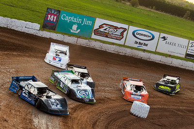 Mason Zeigler (25Z), Josh Richards (1), Allen Murray (2), Darrell Lanigan (14), Kyle Bronson (40B) and Brent Larson (B1)