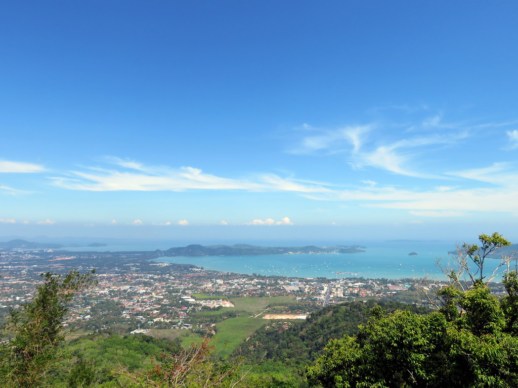 View from the top, facing Old Phuket Town.