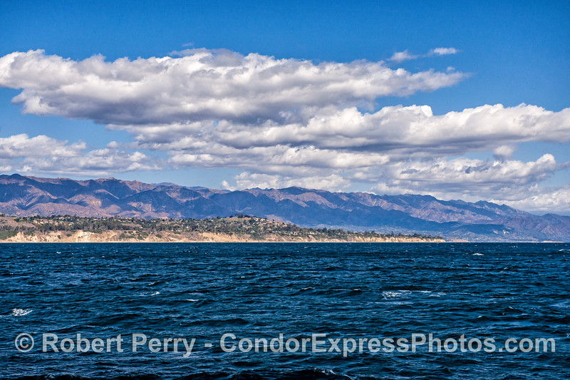 Wind and stormy clouds over Santa Barbara.