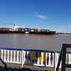 BIG BOAT ON THE MISSISSIPPI RIVER.